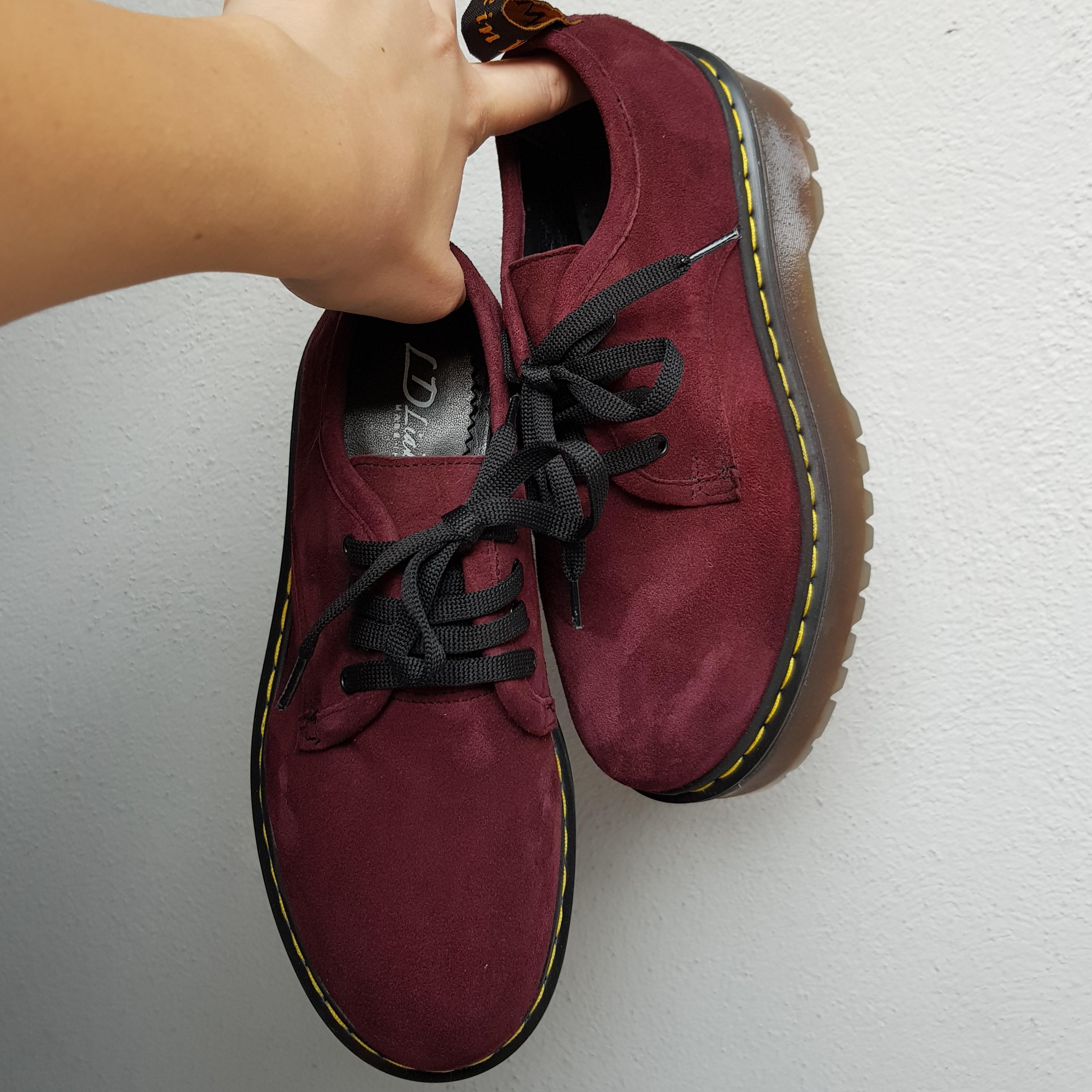 Scarpa camoscio bordeaux oxford2 - Lia diva scarpe ...
