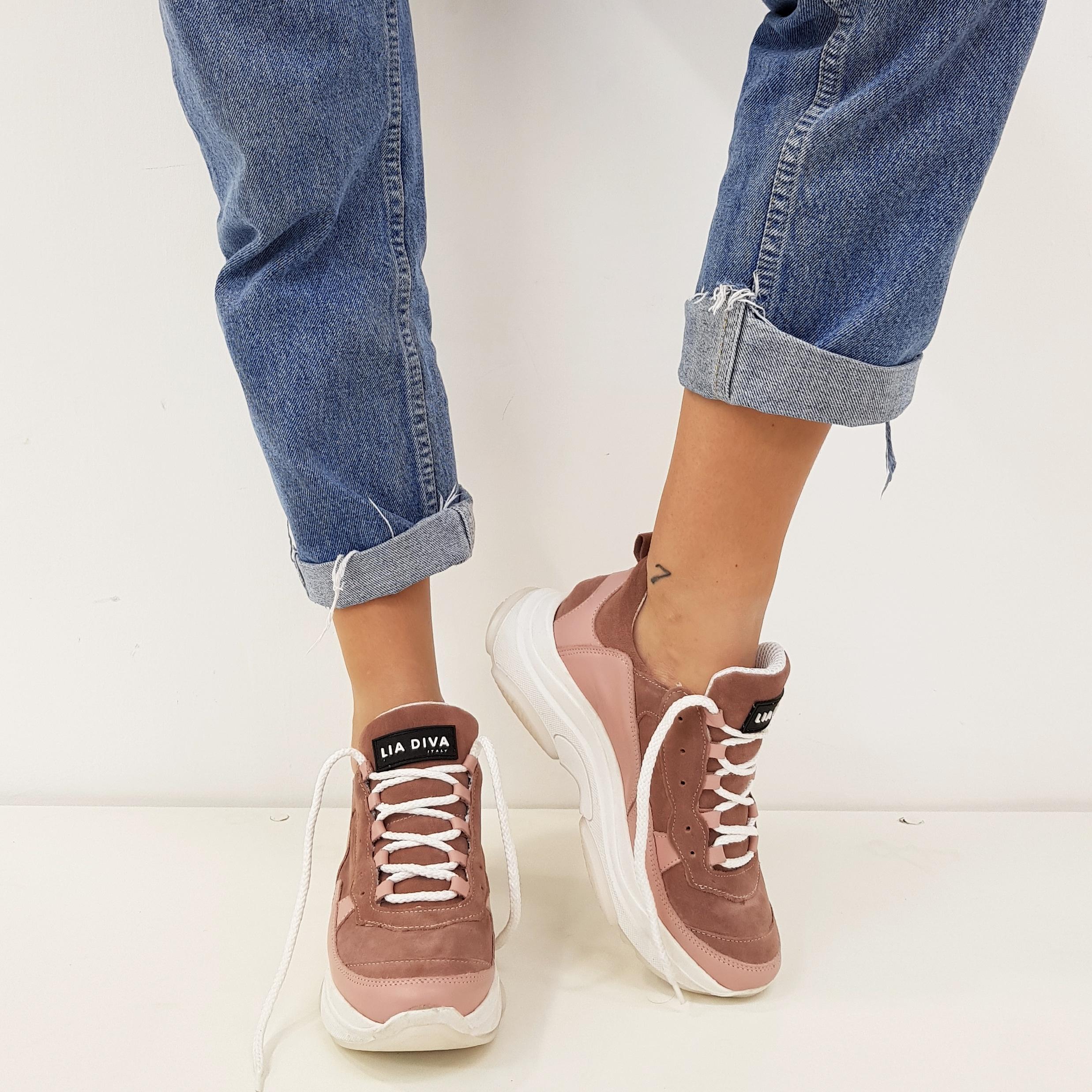 Sneakers lacci rosa kent1 - Lia diva scarpe ...