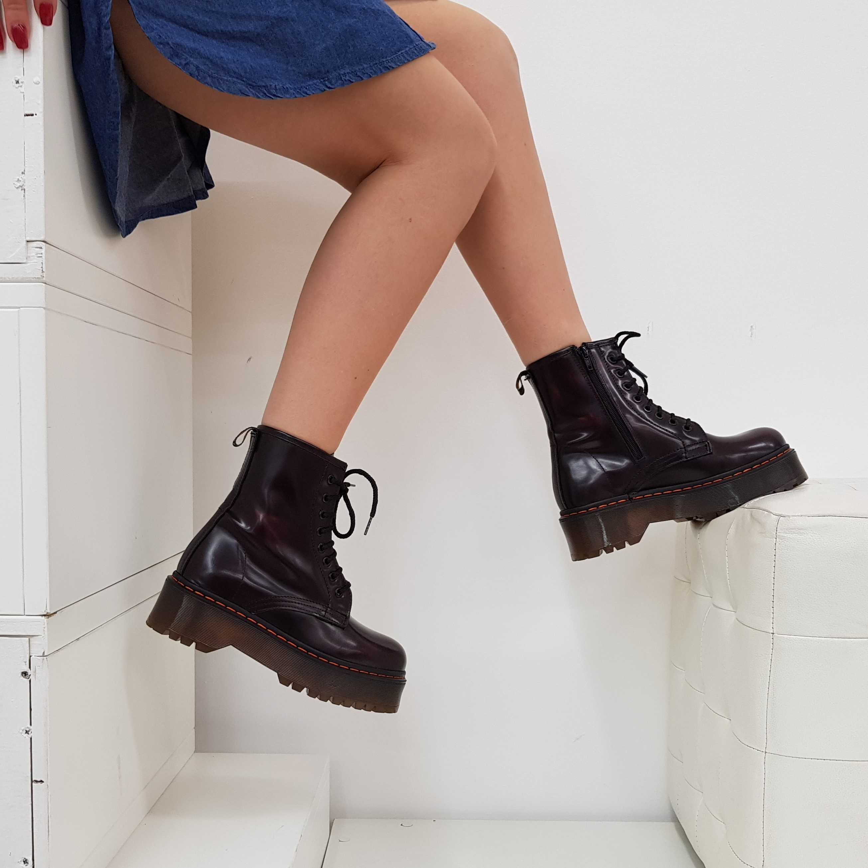 Stivaletti lacci pelle abrasivato bordeaux oxford - Lia diva scarpe ...