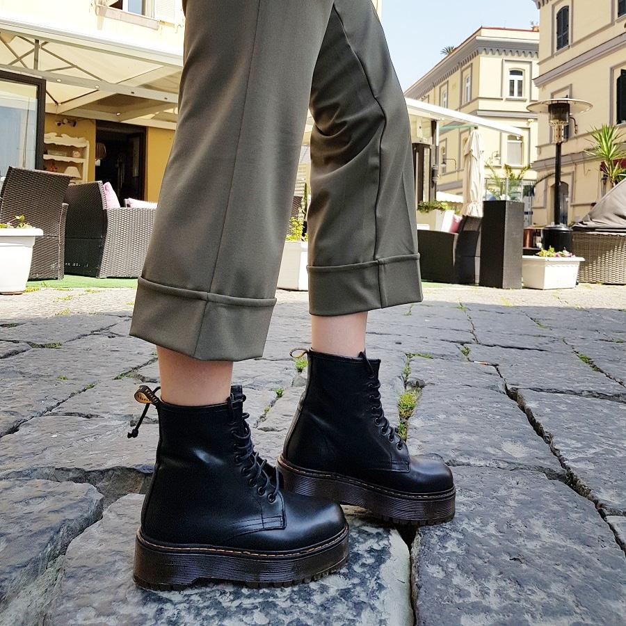Stivaletti lacci pelle nero oxford - Lia diva scarpe ...