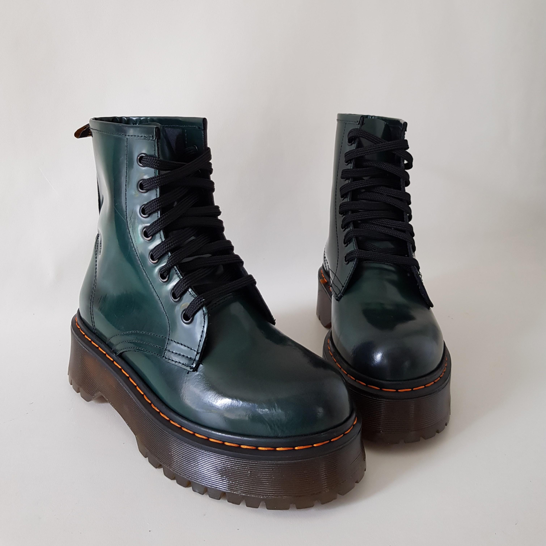 Stivaletti pelle abrasivato verde oxford - Lia diva scarpe ...