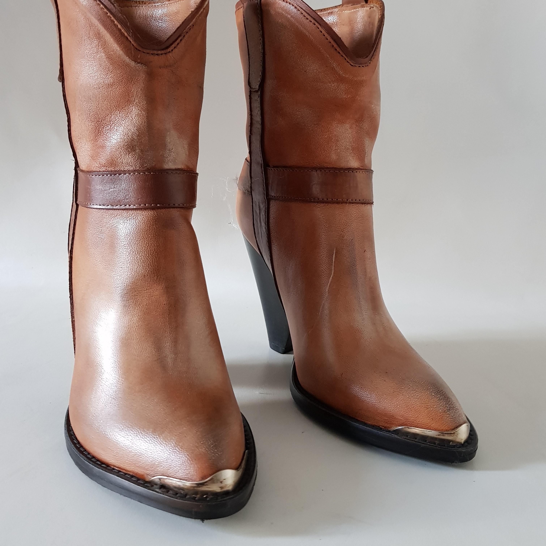Stivaletti pelle cuoio slavato new celine - Lia diva scarpe ...