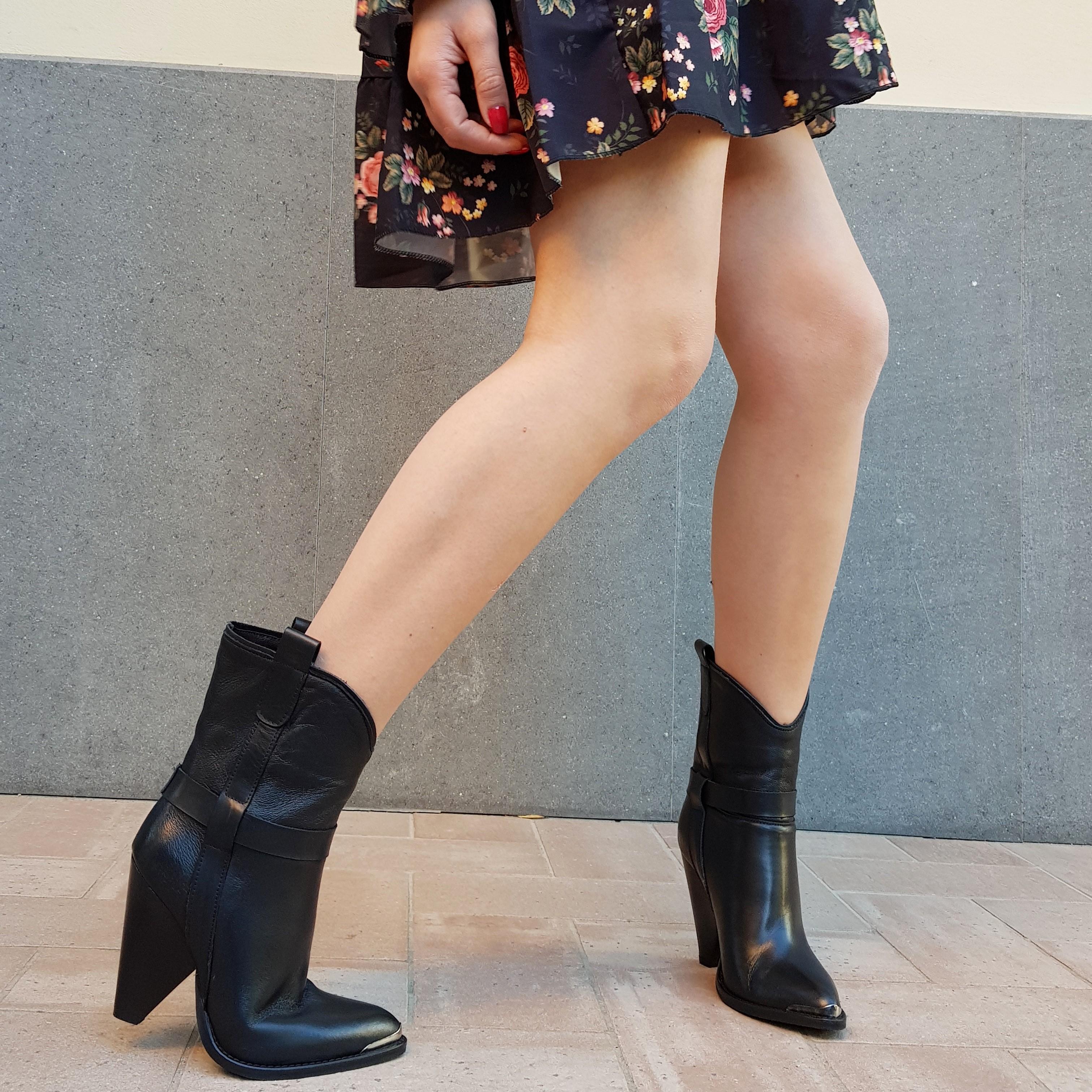 Stivaletti pelle nero new celine - Lia diva scarpe ...
