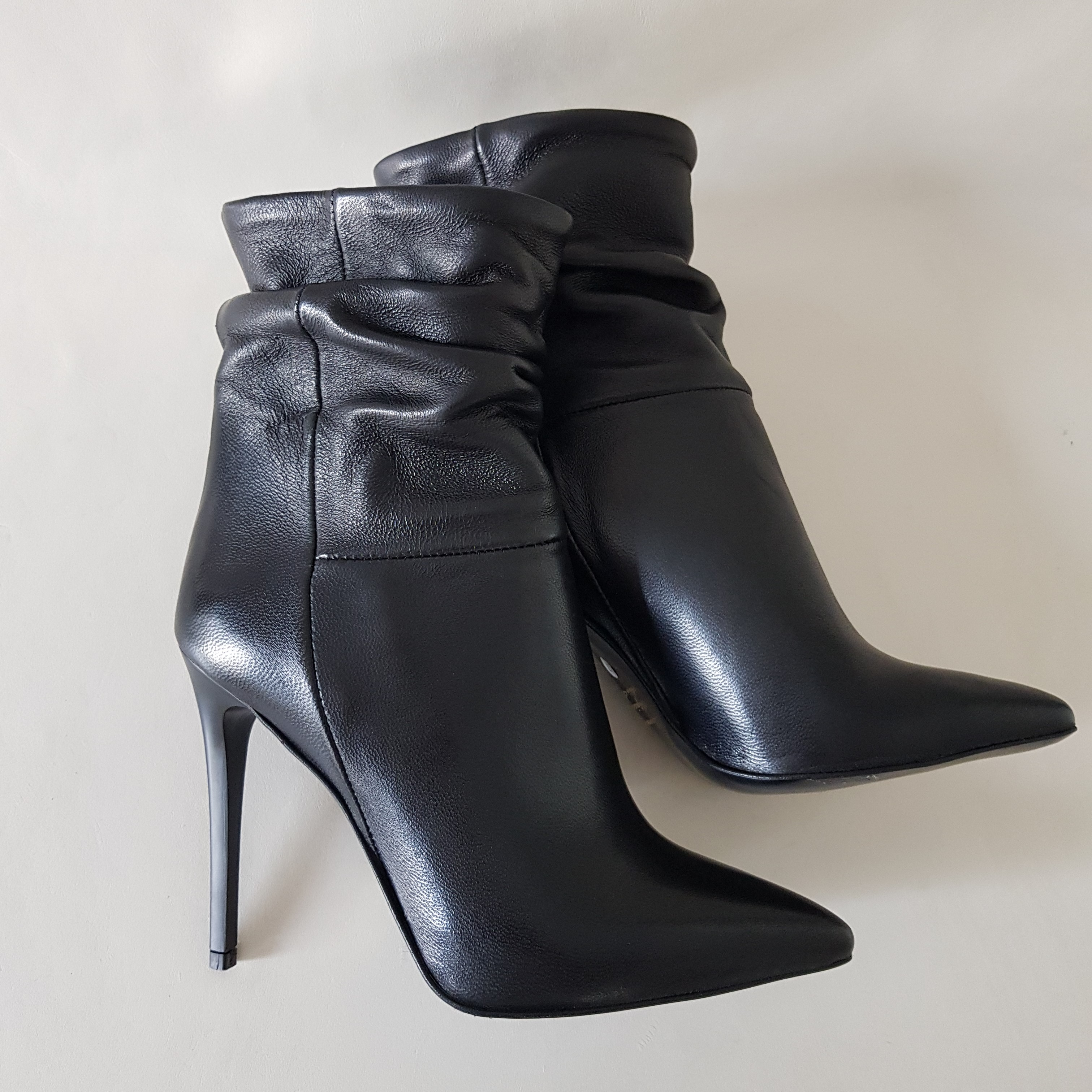 Stivaletti pelle nero tacco ornella94 - Lia diva scarpe ...