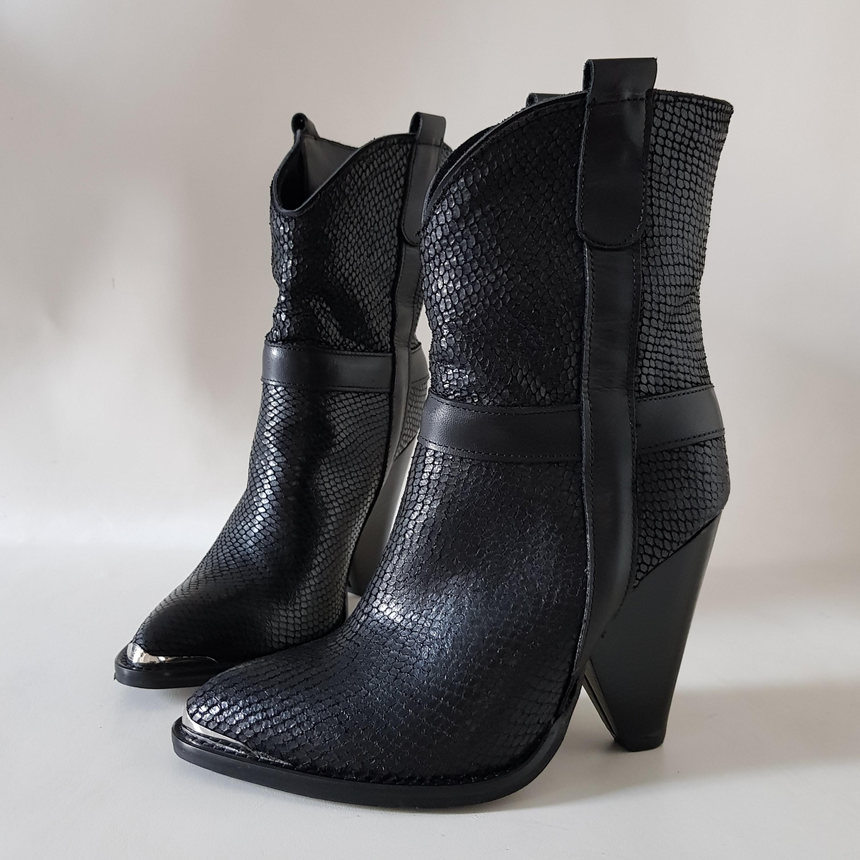 Stivaletti pelle pitone nero new celine - Lia diva scarpe ...