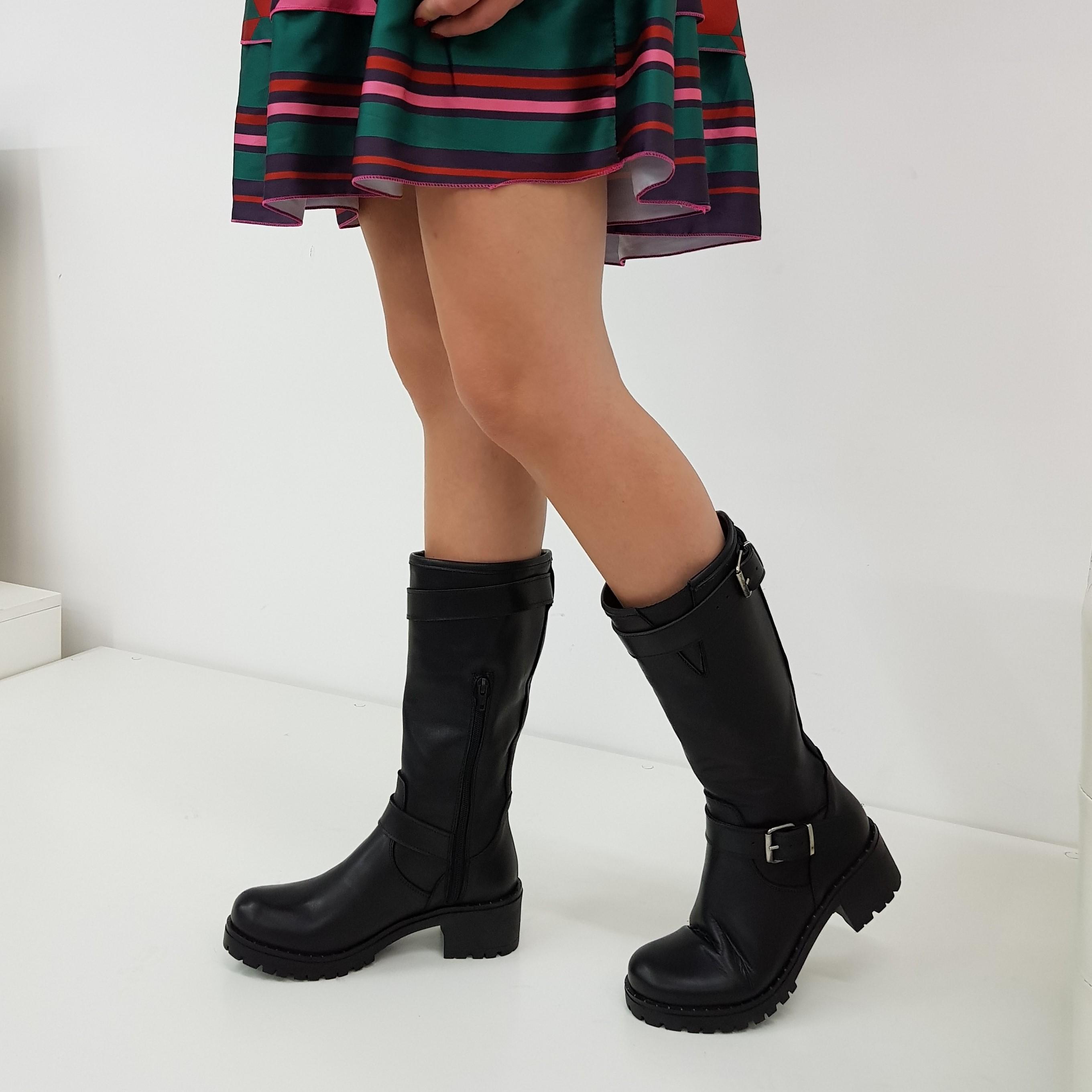 Stivali pelle nero sonya - Lia diva scarpe ...