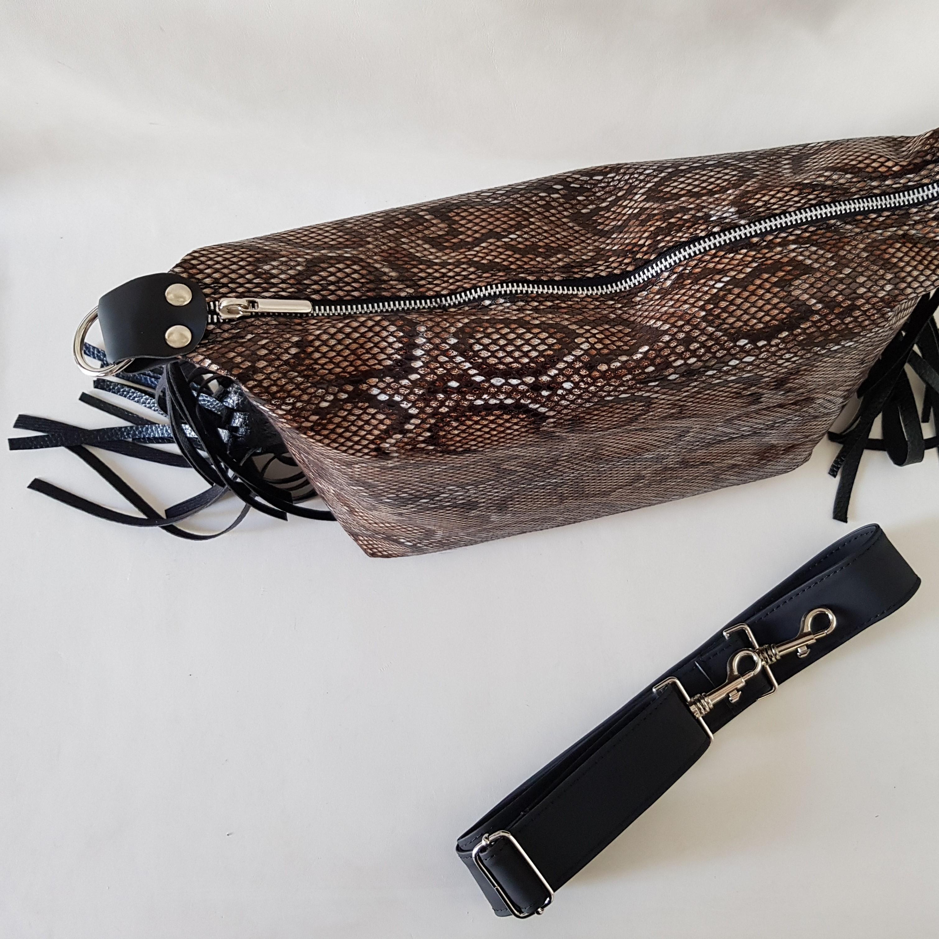 Borsa anaconda frange - Lia diva calzature ...
