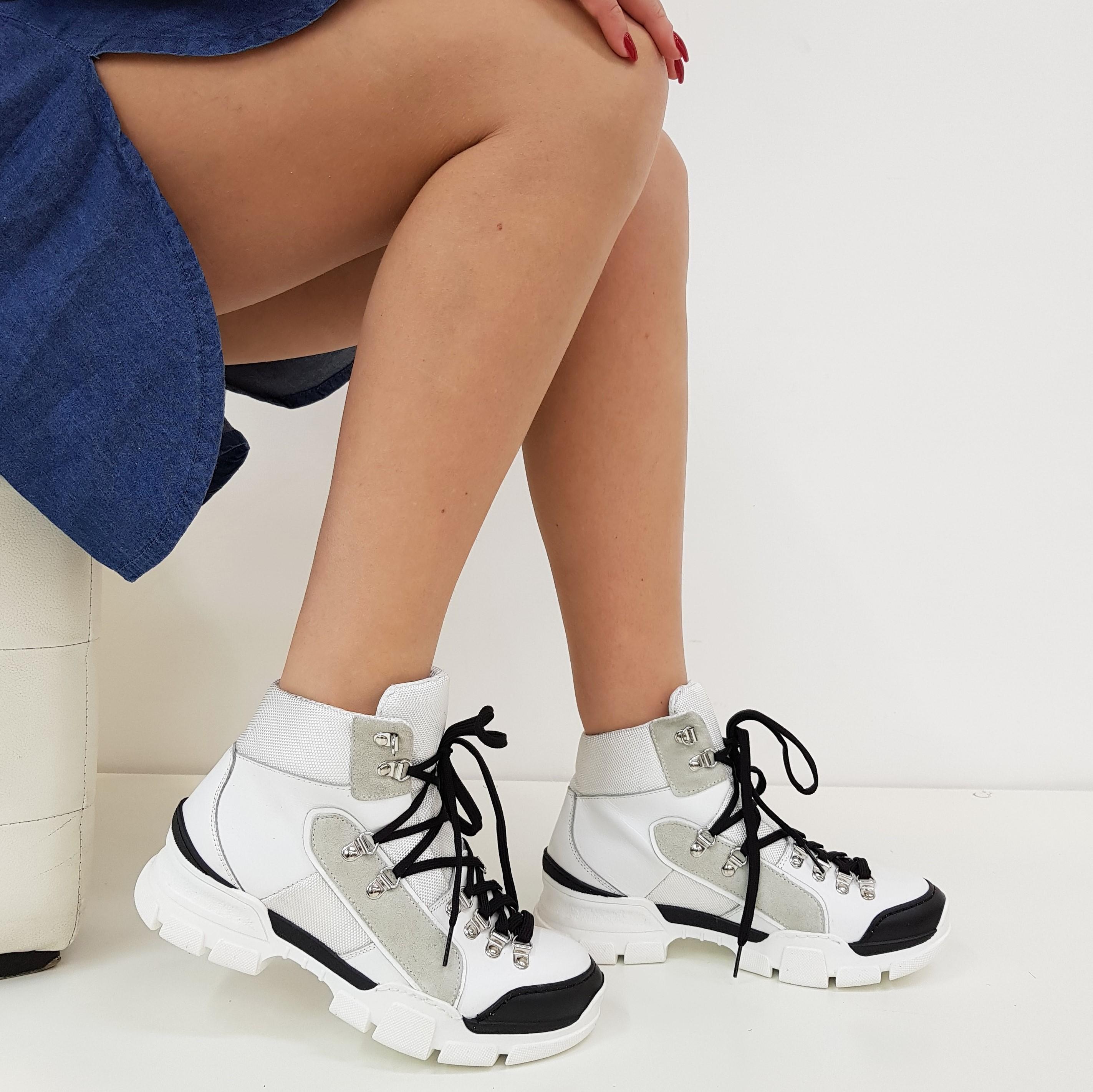 Sneakers pelle bianco e nero sofy2 - Lia diva scarpe ...