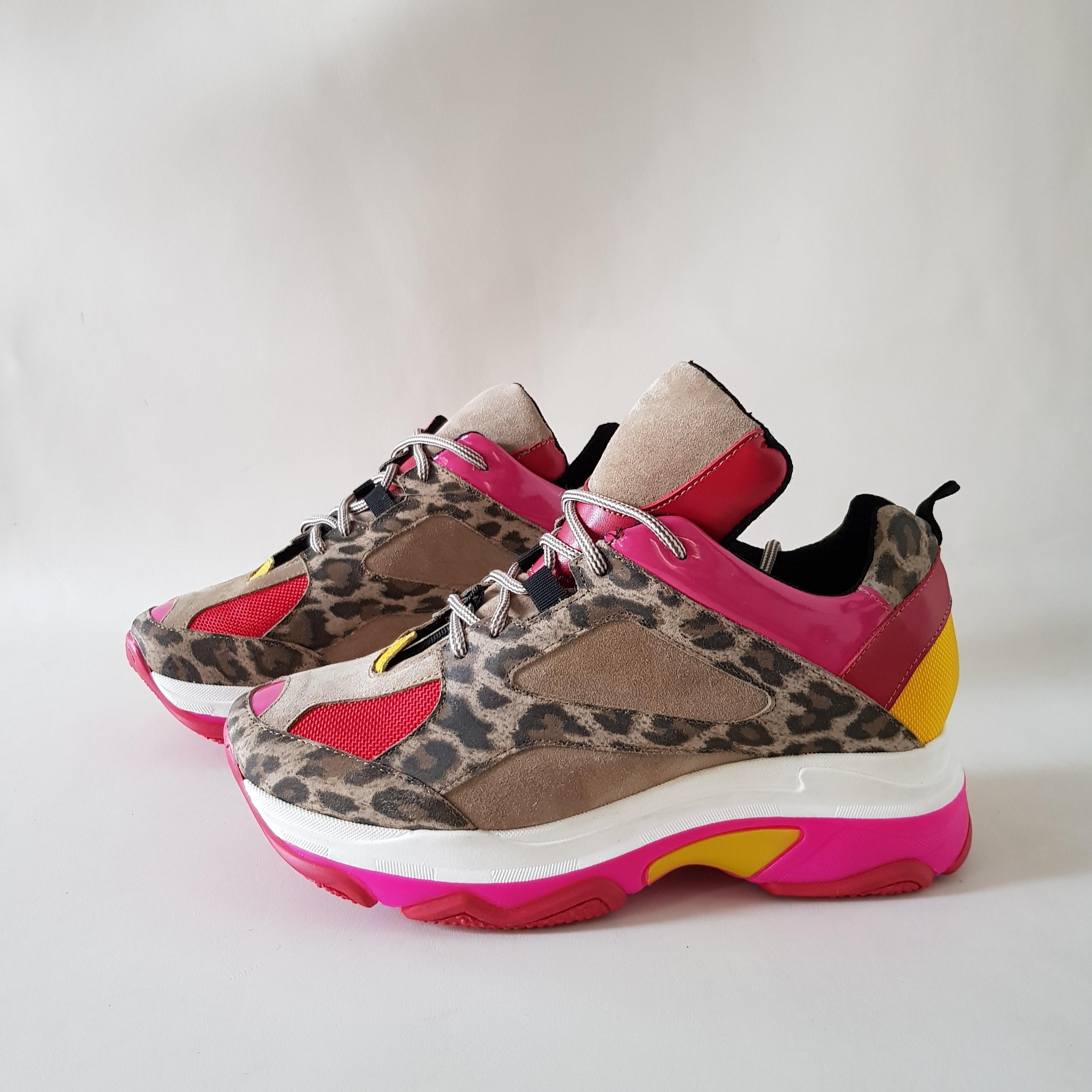 Sneakers lacci animalier kent55 - Lia diva scarpe ...