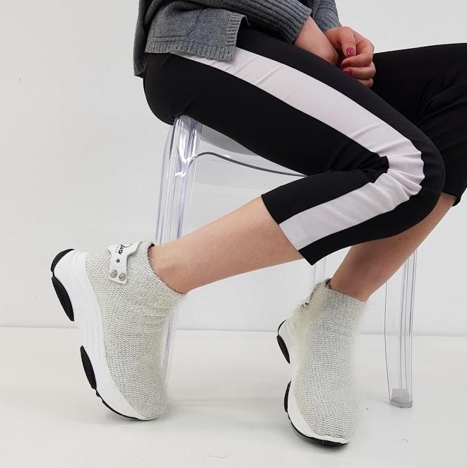 Sneakers pelo bianco kent2 - Lia diva scarpe ...