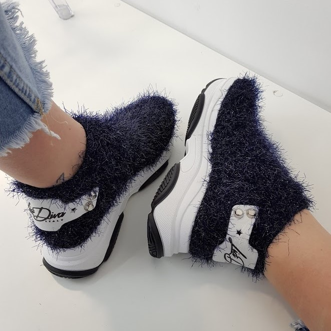Sneakers pelo blu kent2 - Lia diva scarpe ...