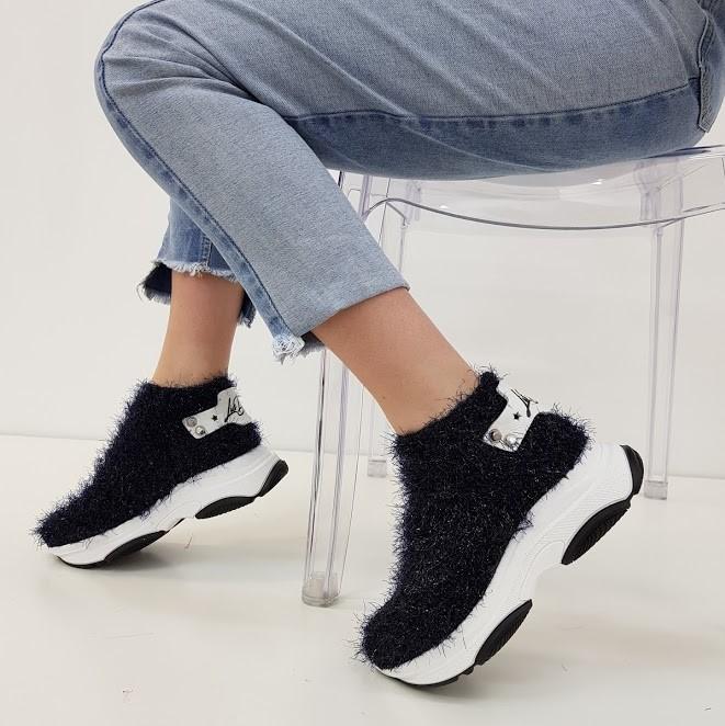 Sneakers pelo nero kent2 - Lia diva scarpe ...