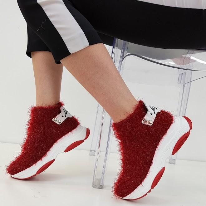 Sneakers pelo rosso kent2 - Lia diva scarpe ...