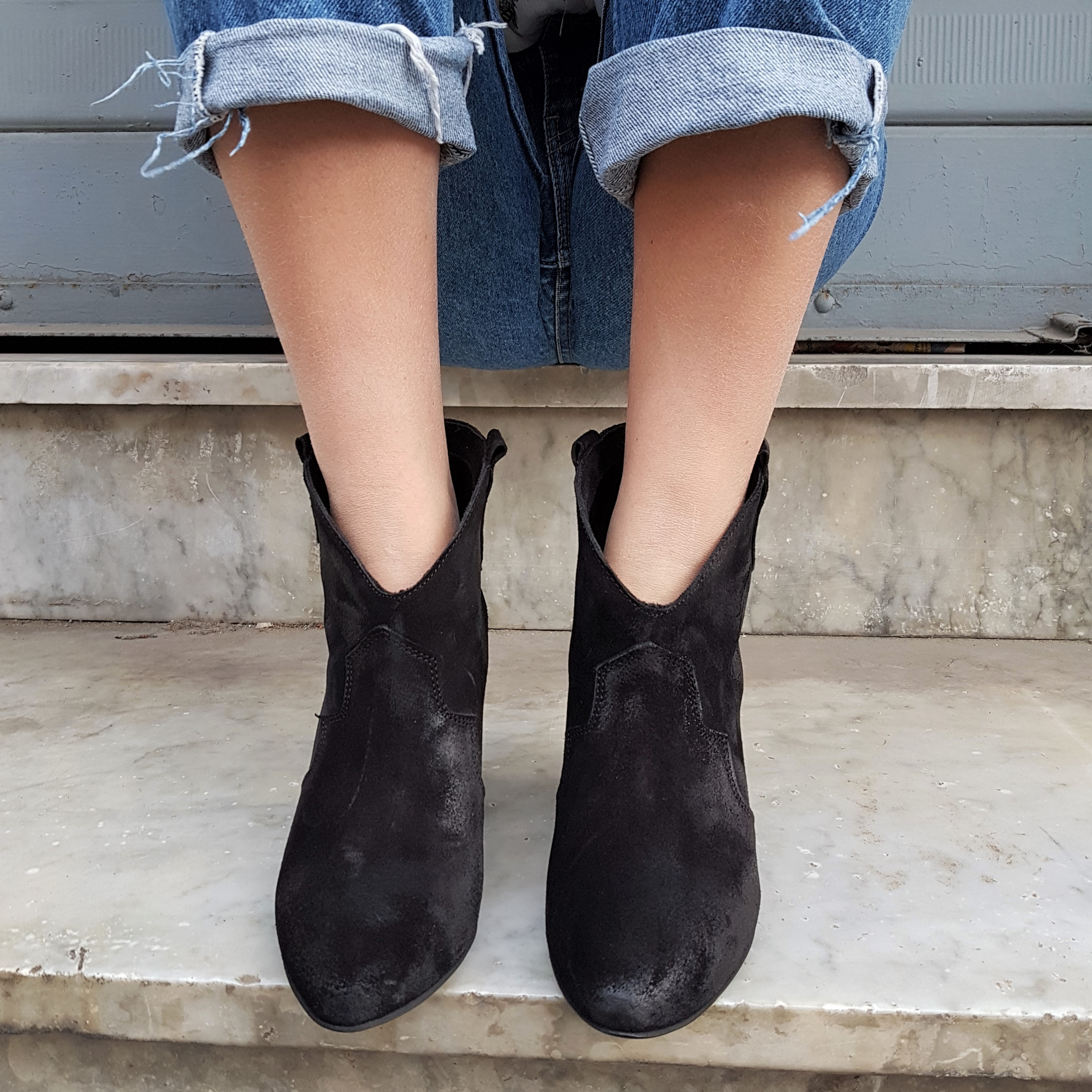 Stivaletti camoscio nero annachiara 1 - Lia diva calzature ...