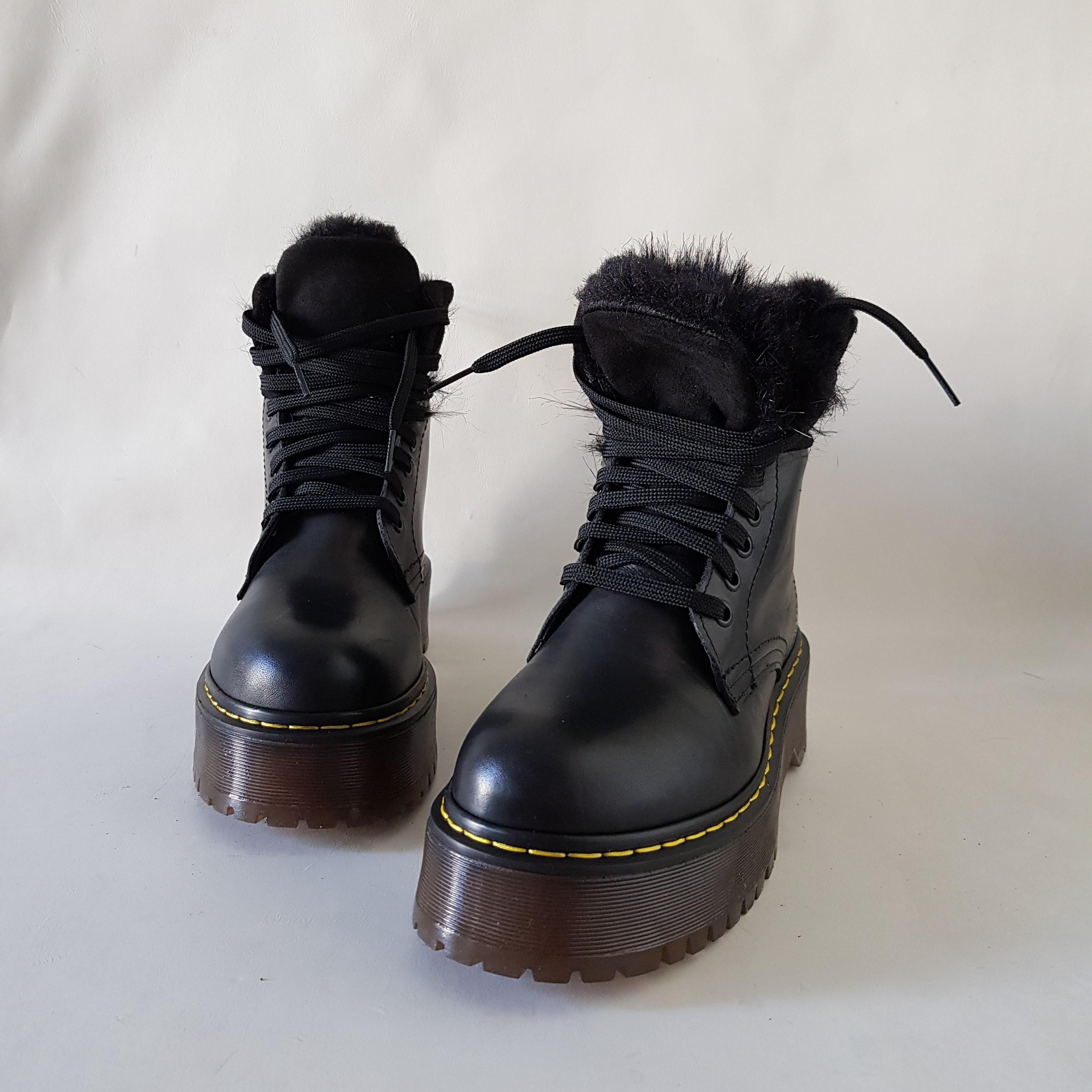 Stivaletti pelle nero e pelo nero oxford 4 - Lia diva scarpe ...