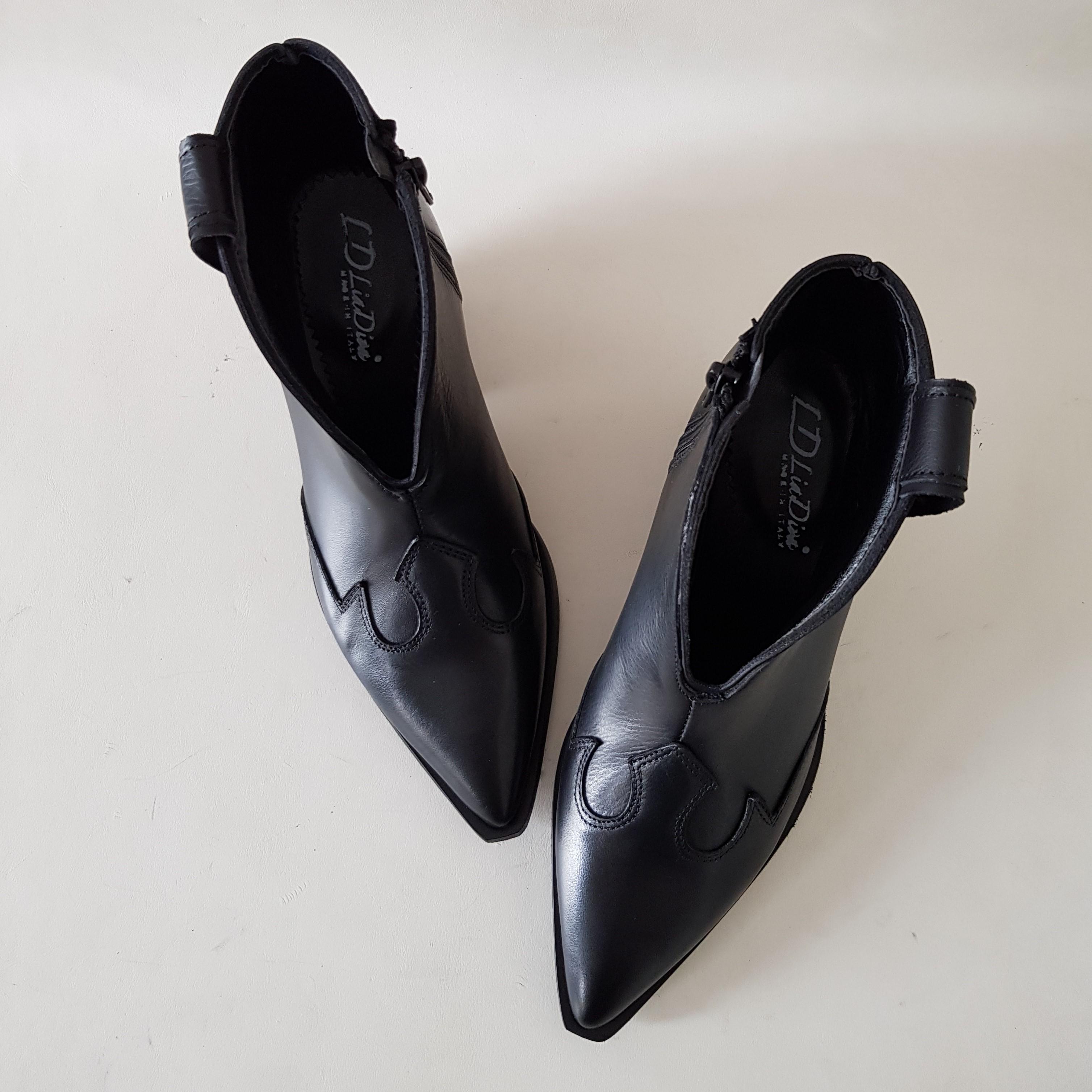 Stivaletti pelle nero stephan 10 - Lia diva scarpe ...