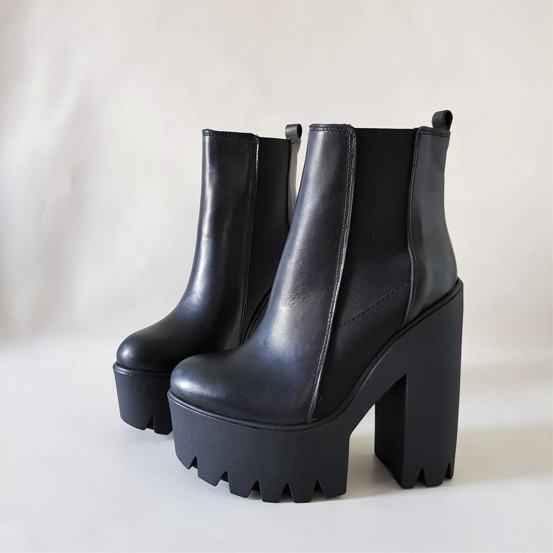 Stivaletti pelle nero sunday - Lia diva scarpe ...