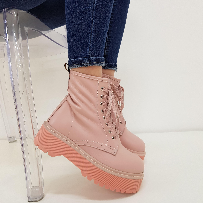 Stivaletti lacci pelle rosa confetto total oxford - Lia diva calzature ...