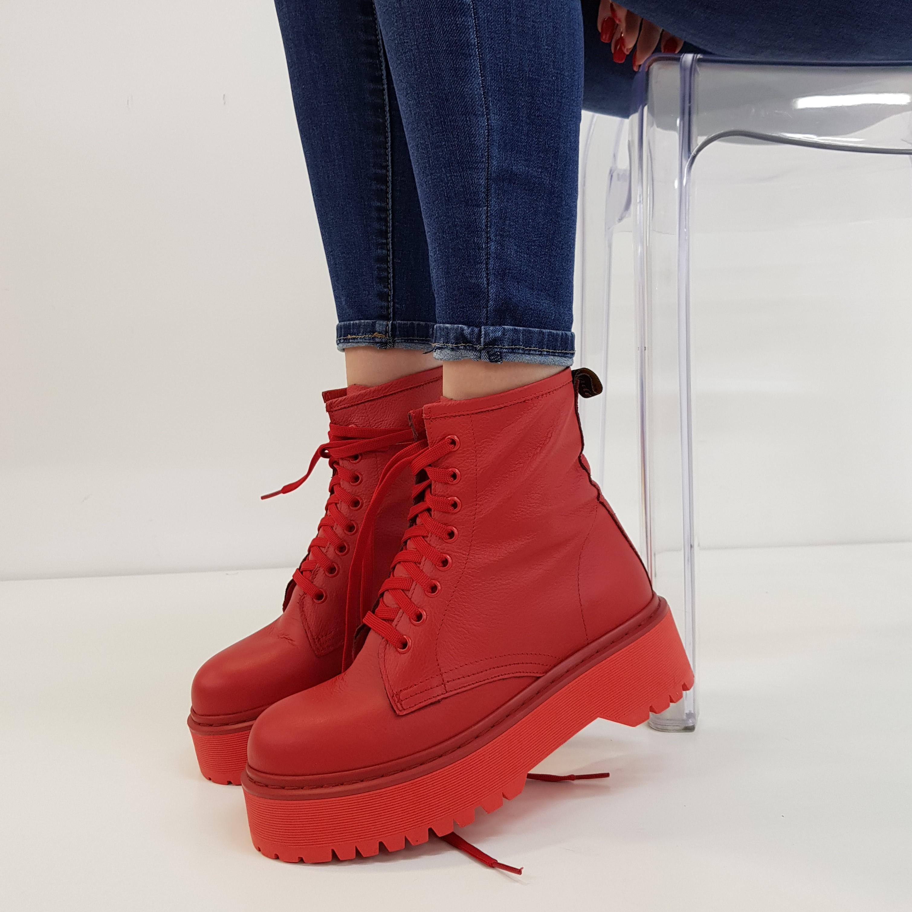 Stivaletti lacci pelle rosso total oxford - Lia diva calzature ...