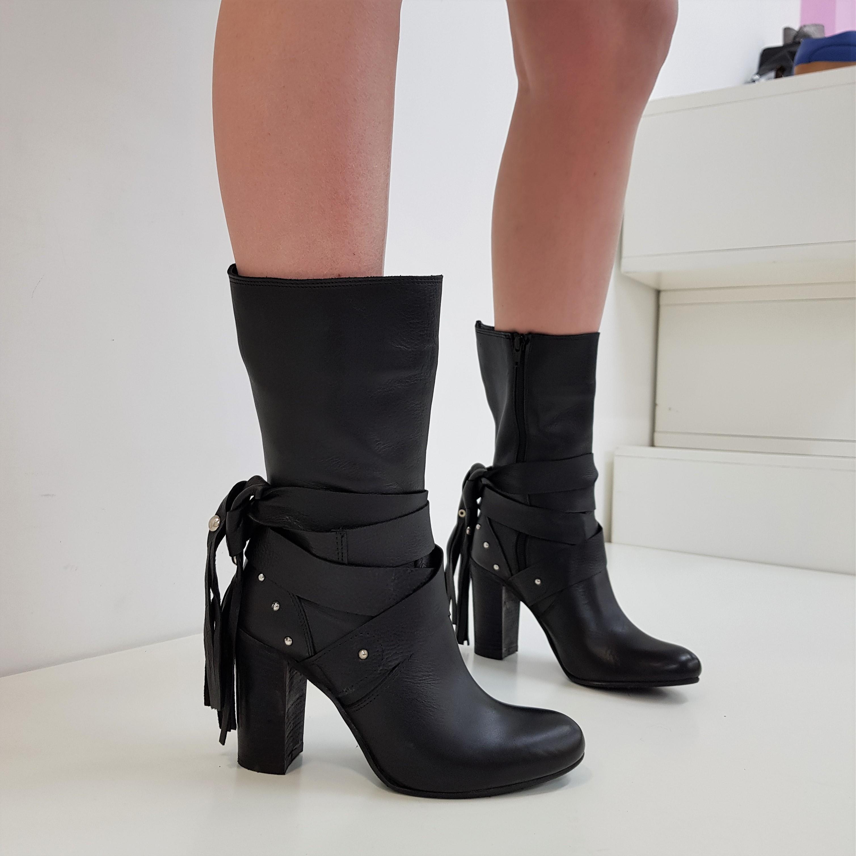 Stivaletti pelle nero insta1 - Lia diva scarpe ...